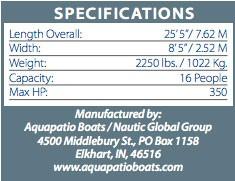 aquapatioboat250-specs