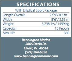 bennington2550spec