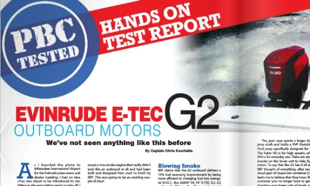 Hands On Test: Evinrude G2 Outboard | PowerBoating com