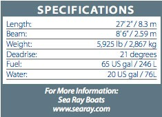 searay270sundeckspec