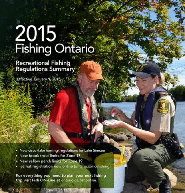 Ontario fishing regulations for Ontario fishing license