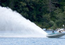 Sproat Lake Regatta Rooster tail
