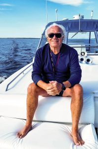 Richard Champagne on boat